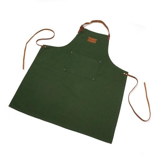 KOOK Schort Stonewash Leer Groen – 70 x 90 cm
