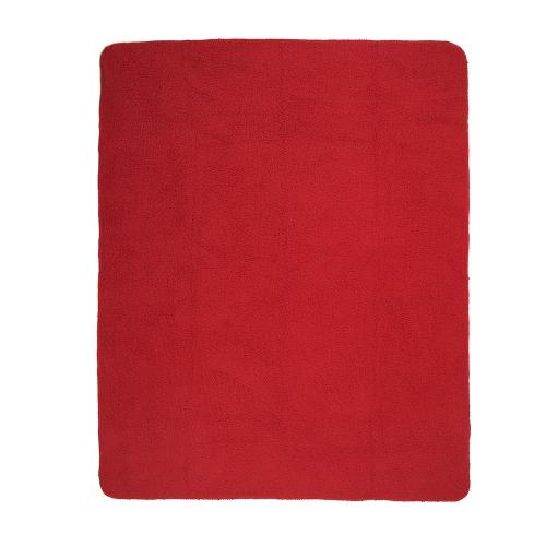 ZEST Fleeceplaid 125*150 cm lammy Rood