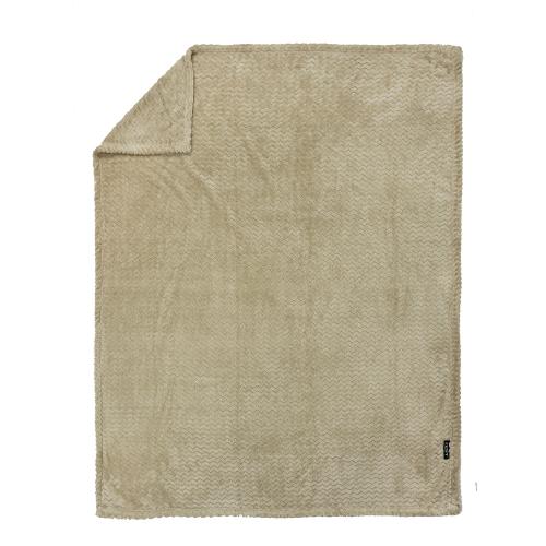 ZEST Fleeceplaid 125*150 cm Zigzag Taupe