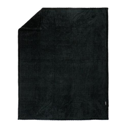 ZEST Fleeceplaid 125*150 cm Zigzag Donkergrijs