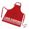 Koken in stijl met dit rode schort van KOOK. Leuk fris kookschort dat er voor zorgt dat je kleding tijdens het koken schoon blijft. Leuk om cadeau te krijgen, maar ook handig voor eigen gebruik. Dit schort heeft een afmeting van 70x90 cm.