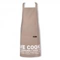 KOOK Schort 70x90 I LOVE COOKING beige R13.403