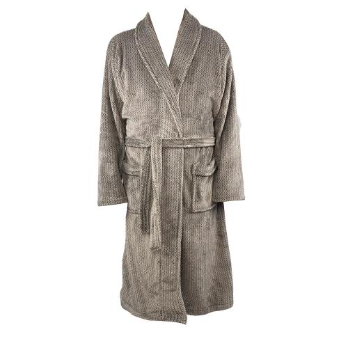 ZEST Badjas fleece L/XL Spikkel Taupe R16.704