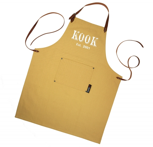 Merk KOOK kijk op onze site www.kookvrienden.nl voor meer items, shorten, ovenwanten, theedoeken, keukendoeken, tafelkleden en servetten. Koken was nog nooit zo leuk!