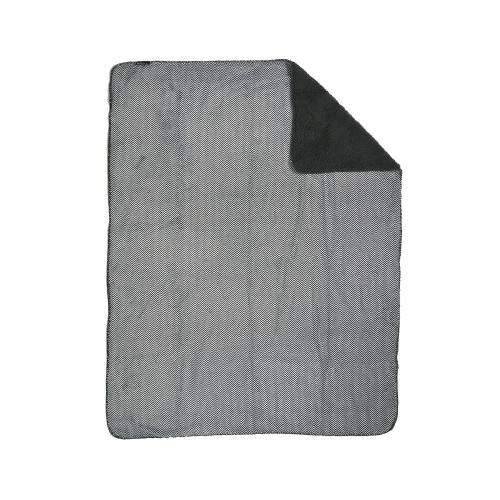 ZEST Fleeceplaid Zigzag Grijs Vacht Grijs